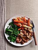 Pork Fillet with Chilli Kale and Balsamic Mushroom Sauce