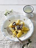 Potato dumplings (cones) with poppy seed