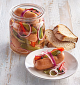 Very spicy marinated sausages