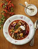 Venison borscht