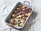 Blechkuchen mit Kakaocreme