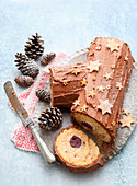 Schoko-Biskuitrolle 'Bûche de Noël'