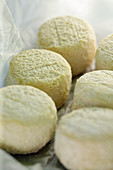 Sancerre cheese on white paper