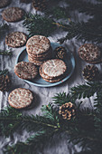 Gingerbread stamped cookies