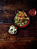 Lamb Kofta with vegetable salad