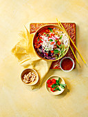 Asian noodle salad with peanut