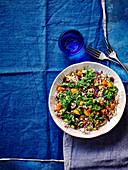 Quinoa and squash salad with cranberries