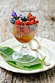 Wild berries with chestnut honey