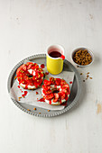 Strawberry tart with vanilla curd
