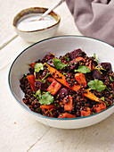 Indian lentil daal with beetroot, carrots and sweet potatoes