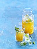 Iced tea with mango