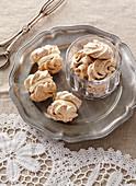 Layered nut meringues