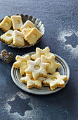 Christmas cookies with egg nogg cream