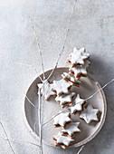 Christmas cookies Nut stars