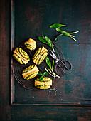 Wild garlic feta biscuits