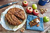 Sweet apple pie bread