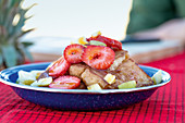 Cinnamon French toast with fresh fruits