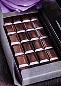 Bar of dark chocolate