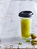 Mint lemonade with kiwi