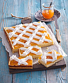 Blechkuchen 'Earl Rákoczi' mit Custard Cream