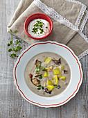 Cottage mushroom soup