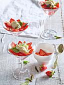 Strawberries with vanilla mascarpone cream
