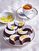 Rum crescent tea cakes with lemon zest