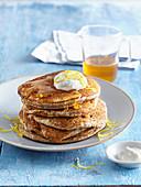 Poppy seed and lemon pancakes