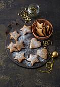 Norwegian Christmas cookies with ginger and orange peel