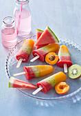 Pumpkin ice lollies