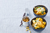 Pumpkin pasta with sage butter and parmesan