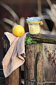 Refreshing body scrub with natural ingredients