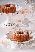 Gluten-free eggnog mini cakes
