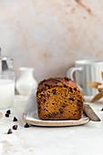 Chocolate Chip Tahini Pumpkin Bread