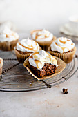 Chai cupcakes with caramel drizzle