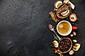 Chaga Mushroom Coffee mit Zutaten