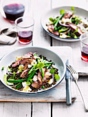 French-style lamb and lentil salad
