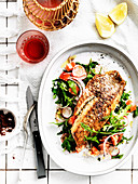 Zatar spiced snapper with salad