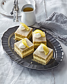 Poppy cuts with lemon icing
