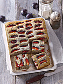 Poppy seed with plums