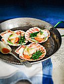 Steamed Scallops served with samphire