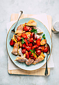 Kaiserschmarrn with baked strawberries