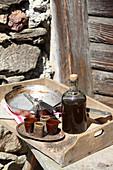 Herbal liqueur for digestion