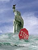 Climate change, conceptual image