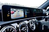 Car dashboard parking display