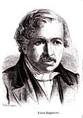 Louis Daguerre, French inventor, illustration