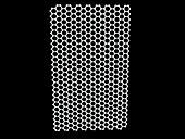 Antimonene sheet, illustration