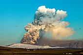 Eyjafjallajokull volcano erupting, Iceland, 2010