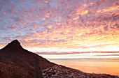 View of Cape Town, South Africa at sunset