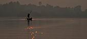 Fishing at dawn, India